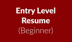 Entry Level Resume: Beginner
